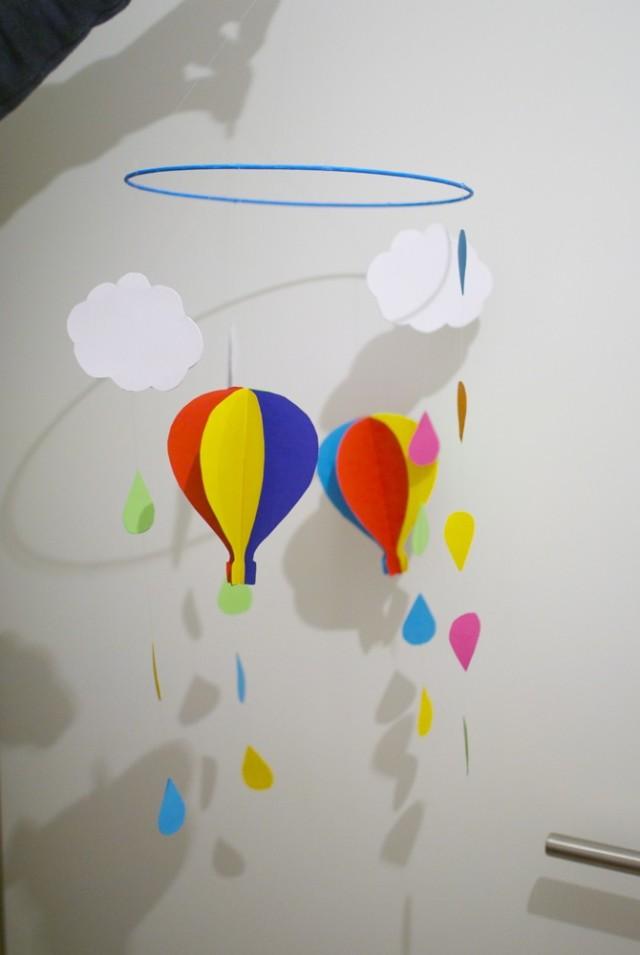 Bunter Regen Und Heißluftballons Diy Ivy At
